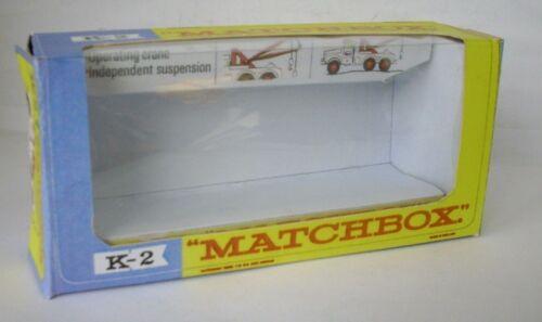 2 Scammel Heavy Wreck Truck Repro Box Matchbox King Size K