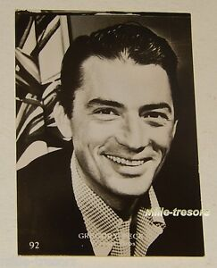 PHOTO-a-collectionner-Gregory-PECK-Issue-du-paquet-STAR-Gum-CHEWING-GUM