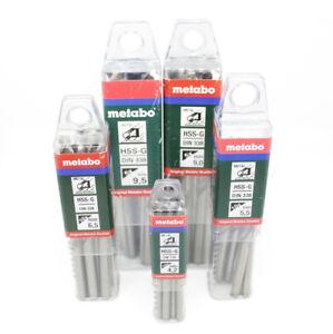 Metabo HSS-G 9.5mm Twist Drill Bits DIN 338
