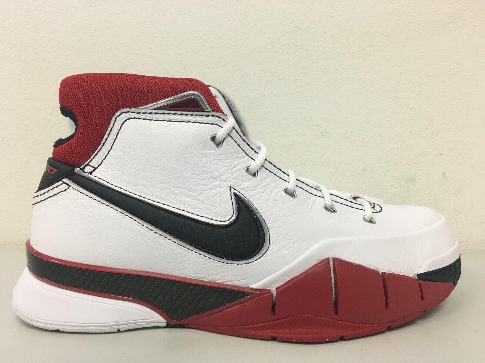 Nike Nike Nike Kobe 1 Predro Retro All-Star White Black Varsity Red AQ2728-102 Size 9.5 e95d08