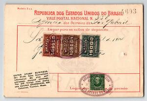 Bresil-1914-colis-recu-Punch-Trous-philatelique-connexes-II-Z13515