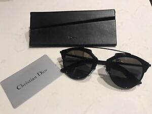 e1c33ac7b0f2 Image is loading Christian-Dior-So-Real-Black-and-Mirror-Sunglasses