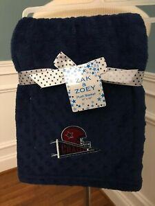 Nwt Zak Amp Zoey Navy Football Champ Baby Blanket Minky 30