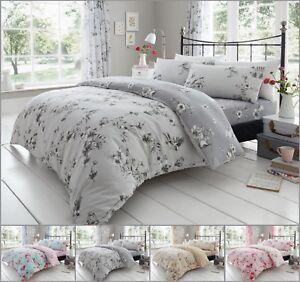 Birdie-flor-de-lujo-cubierta-del-edredon-edredon-cubre-conjuntos-de-ropa-de-cama-reversible-Todas
