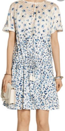 Tory Burch Odila Printed Silk Fil Coupé Dress Size