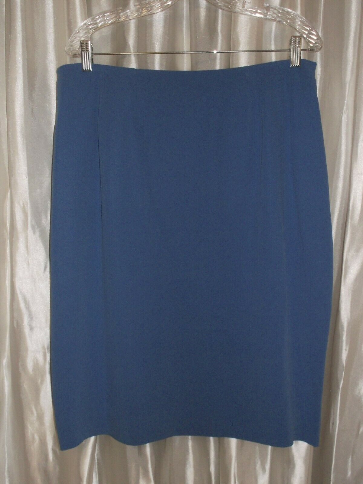New with tag MSRP bluee silk skirt, lined, 26