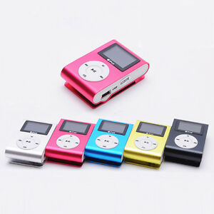 Mini-USB-Clip-MP3-Player-iPods-LCD-Bildschirm-Support-32GB-Micro-SD-TF-Karte