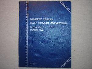 "Whitman Coin Folder ""Liberty Seated Half Dollar/"" 1851-1862 New Old Stock"