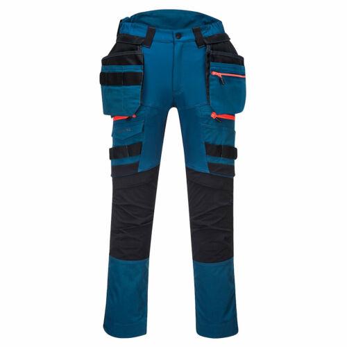Portwest DX440 metro blue detachable holster pocket kneepad stretch work trouser