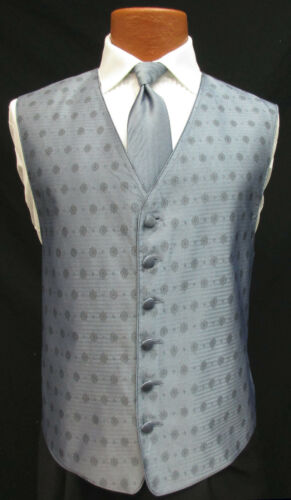 Men/'s Periwinkle Blue Perry Ellis Fullback Tuxedo Vest /& Tie Cruise Wedding Prom