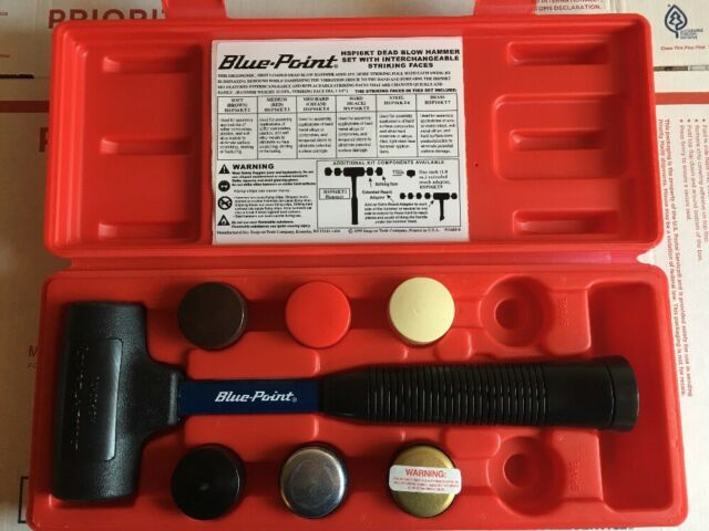 Blue Point 7 Pc 22 Oz Dead Blow Hammer With Interchangeable Tips Hspi6kt For Sale Online Ebay Change out the faces when they become worn. blue point 7 pc 22 oz dead blow hammer with interchangeable tips hspi6kt