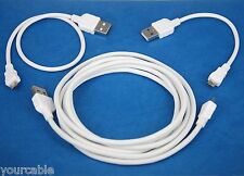 2M+30cm+10cm Micro USB Cable WHITE 4 Sony ebook Reader PRS-T3 PRS-T2 PRS-T1 950