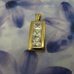 Dolly-Bijoux Femme Pendentif Diamant Cz Rond 6mm Plaqué Or 18K 5 Microns