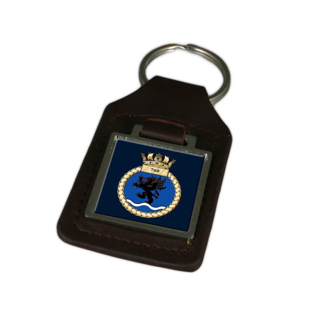Königliche Marine 771 Fleet Air Arm Graviert Schlüsselanhänger aus Leder | Fuxin