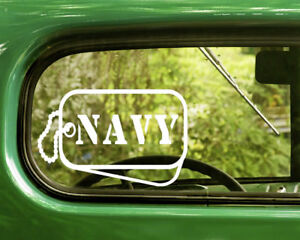 2-U-S-NAVY-DOG-TAGs-DECALs-Military-Sticker-For-Car-Window-Bumper-Laptop-RV