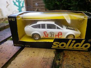 SOLIDO-France-N-82-ALFETTA-GTV-1980-RALLYE-comme-neuf-en-boite-d-039-origine