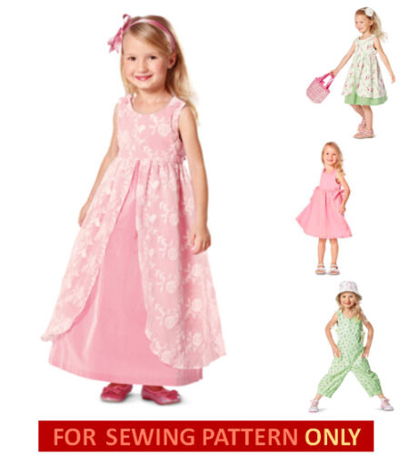2~6 YEARS SALE MAKE GIRL SUNDRESS~PARTY DRESS~JUMPSUIT SEWING PATTERN SUMMER