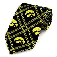 Iowa Hawkeyes Mens Necktie University College Logo Alumni Gift Neck Tie