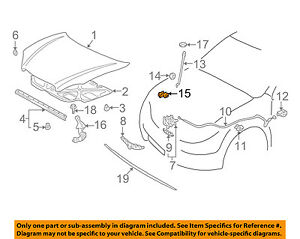 Genuine Nissan Support Rod Clamp 65722-ED01A