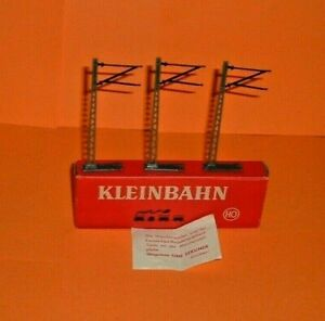 Kleinbahn-HO-3-x-overhead-Masts-non-working-Boxed-T282