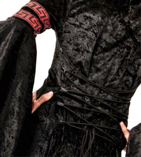 Gr 36 38 40 42 Halloween Kostüm Yandra  Gothic Hexe Vampirin ohne Stulpen