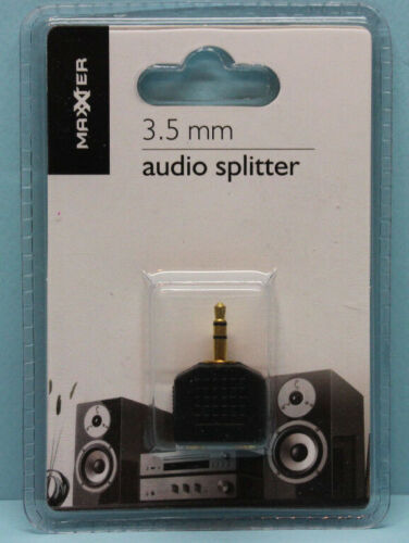 Audio Splitter 1x 3,5 mm Stecker auf 2x 3,5 mm Buchse