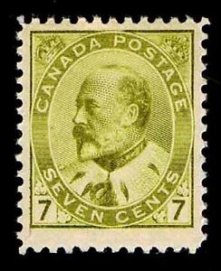 CANADA #92 .07c DEFINITIVE ISSUE OF 1902 - OGLH - VF - CV $225.00 (ESP#9618)