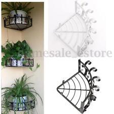 Vintage Wall Light Hanging Flower Plant Pot Bracket Hook Shelf Stand Holder