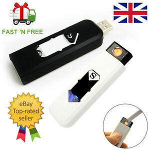 USB-Electric-Rechargeable-Battery-Flameless-Windproof-Cigarette-Glow-Lighter