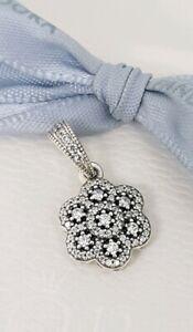 0e7fa7a3fb73e Details about Authentic Pandora Crystallised Floral Ice Flower CZ Pendant  Charm 390392CZ NEW