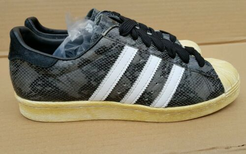6 Rare 80's Edition Skin Trainers Snake Size Black Adidas Uk Superstar Limited qqSH0R