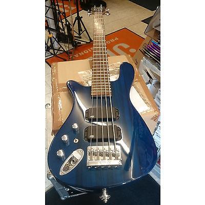 Rockbass by Warwick Streamer 5 String Lefthand gebraucht transparent blau