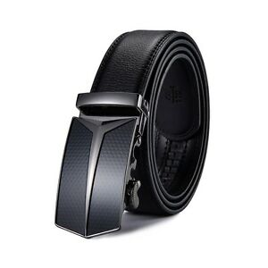 Fashion-Men-039-s-Automatic-Buckle-Belt-Genuine-Leather-Ratchet-Waistband-Mens-Gift