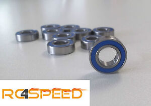 10x FoRally Kugellager MR105-2RS blau, 5x10x4 Kyosho, HPI, Mugen