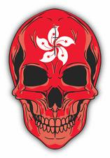 """Skull Flag Hong Kong Car Bumper Sticker 4"""" x 5"""""""