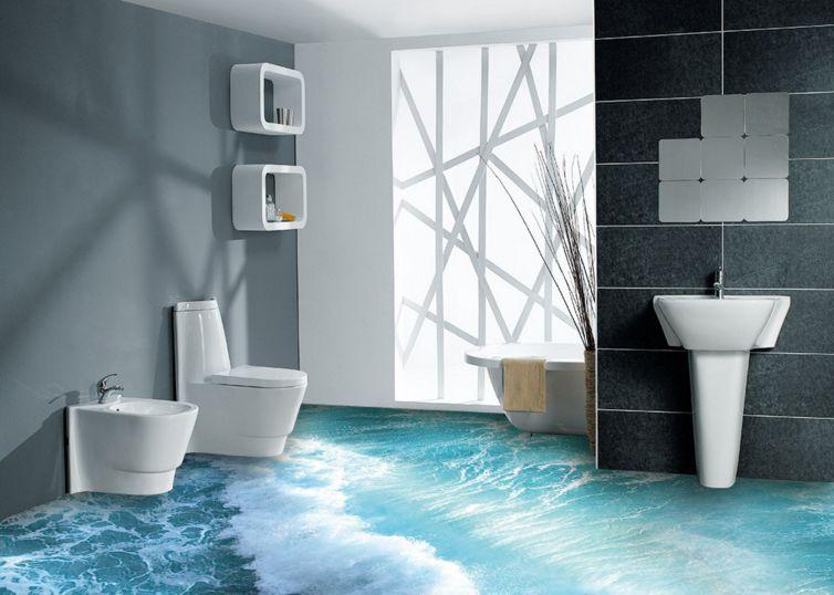 3D oceano onda terreno Pavimento Foto Wallpaper Murales Muro Stampa Decalcomania