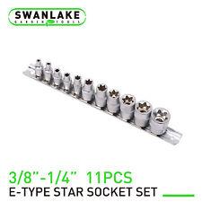 11pc Female E Torx Star Socket Setrail E4 E20 External Star Torque Socket Set