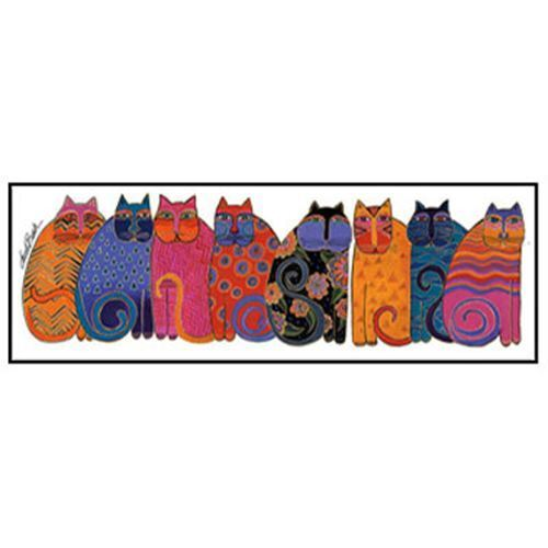 "Laurel Burch Bookmark Colorful Cats 7/""x2 1//4/"""