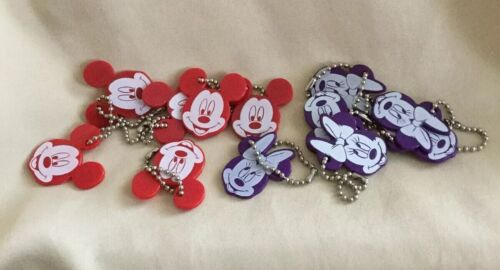 PLASTIC MINNIE AND MICKEY PARTY TAGS LOT12 PCS