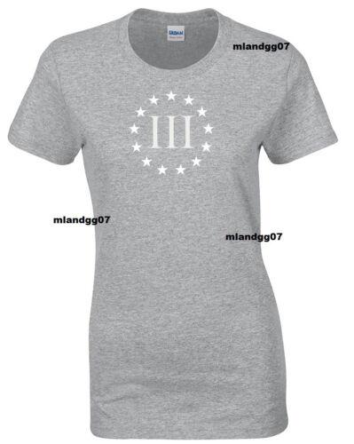 Adult Sizes Womens T-Shirt Three  Percenters U.S Army Military SIZES S-XL