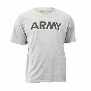 Genuine-U-S-Army-Issue-Soffe-Dri-Release-Athletic-Gray-Reflective-T-Shirt