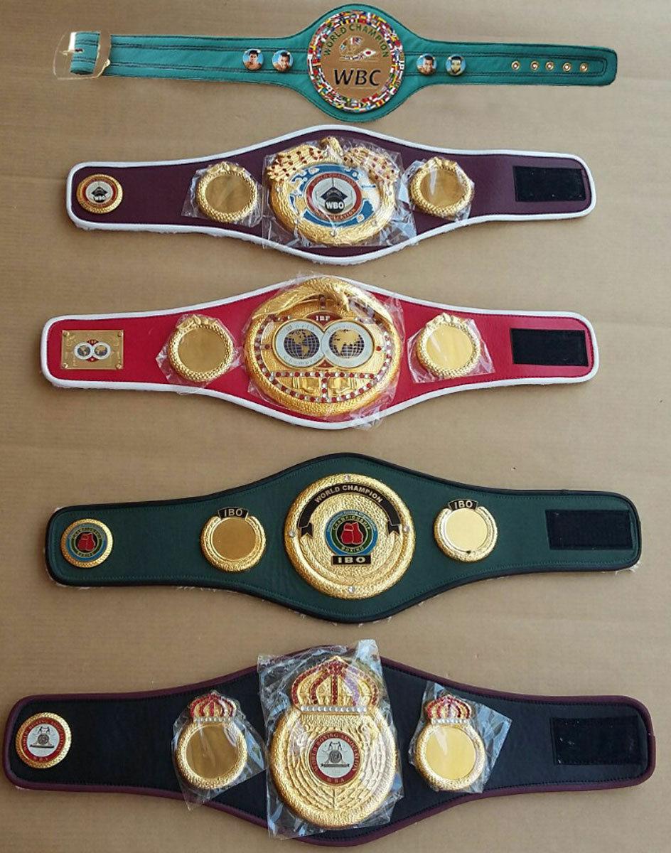 Nuovo di Zecca WBC WBO Montante Settimanale del beneficio IBF Ibo Campionati Boxe cinture Mini 5 PZ cinture di piccole dimensioni