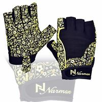 Ladies Gel Gloves Fitness Gym Wear Weight Lifting Training Cycling Yellow/black
