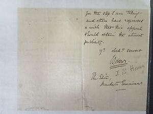 John Howson Autograph Letter - Priest/English Divine
