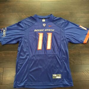 on sale 0037c 019cc Details about Boise State Broncos #11 Nike Blue Football Jersey Size Large  In Men