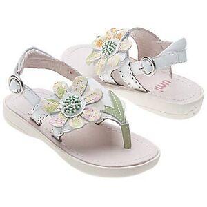 "NIB Girls UMI ""Lucy"" WHITE Leather Sandals 25 26 27 28"