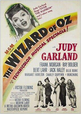 Brillante Il Mago Di Oz Film Vintage Grande Poster Art Print Maxi A1 A2 A3 A4- Gli Ordini Sono Benvenuti