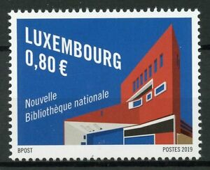 Luxembourg-2019-MNH-New-National-Library-1v-Set-Architecture-Stamps