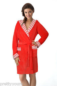 Image is loading Ladies-Soft-Short-Length-Bathrobe-Dressing-Gown-Housecoat- 8489953e9