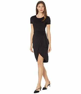 Calvin Klein Ruched Short Sleeve Wrap Dress